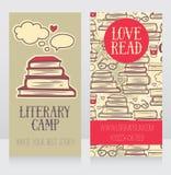 Шаблон визитной карточки для лагеря книги Стоковое Изображение RF