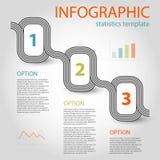 Шаблон временной последовательности по 3 шагов дела infographic Стоковое Изображение RF