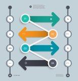 Шаблон временной последовательности по Infographic постепенный Стоковое Фото