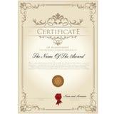 Шаблон года сбора винограда сертификата Стоковая Фотография RF