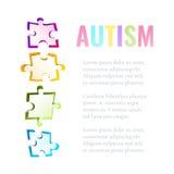 Шаблон головоломки осведомленности аутизма иллюстрация вектора