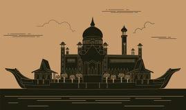 Шаблон графика зданий города Мечеть Омара султана зверюг бесплатная иллюстрация