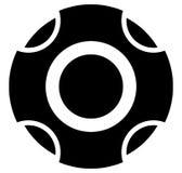 Шаблон группы кнопки регулятора разбивочный Удаленное cente регулятора иллюстрация штока