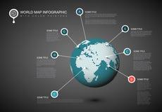 Шаблон глобуса карты мира Стоковая Фотография RF