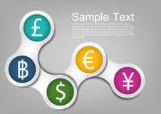 шаблон денег Стоковая Фотография RF