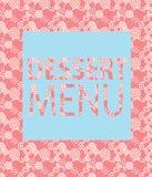 Шаблон десертного меню. Иллюстрация вектора Стоковые Изображения RF