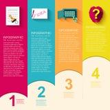 Шаблон дела плоский infographic с текстом Стоковые Фотографии RF