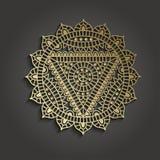 Шаблон дела студии йоги с пиктограммой chakra Стоковое Изображение RF