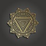 Шаблон дела студии йоги с пиктограммой chakra Стоковые Фото