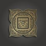 Шаблон дела студии йоги с пиктограммой chakra Стоковые Фотографии RF