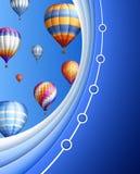 Шаблон дела с воздушными шарами Стоковые Фотографии RF
