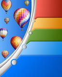 Шаблон дела с воздушными шарами Стоковые Изображения