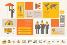 Шаблон дела infographic Стоковые Фотографии RF