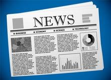 Шаблон деловой газеты с европейской экономикой Стоковые Фотографии RF