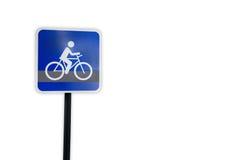 Шаблон знака уличного движения трассы велосипеда Стоковая Фотография