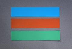 Шаблон знамени бумаги Pptions Стоковые Изображения RF