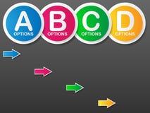 Шаблон знамени вариантов. Иллюстрация вектора. Стоковые Изображения
