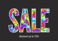 Шаблон знамени продажи в современном низком поли геометрическом стиле Стоковая Фотография RF