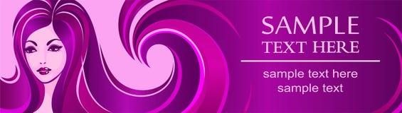 Шаблон знамени для салона красоты или рекламы Стоковое Изображение RF