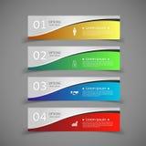 Шаблон знамен номера infographics дизайна бесплатная иллюстрация