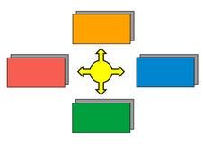 Шаблон диаграммы Стоковая Фотография RF