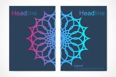 Шаблон дизайна брошюры План рогульки вектора Картина для кассеты, листовки, крышки, дизайна плаката также вектор иллюстрации прит Стоковое Изображение RF