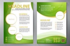 Шаблон дизайна a4 брошюры Стоковые Изображения RF