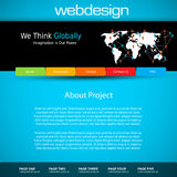 Шаблон дизайна вебсайта иллюстрация штока