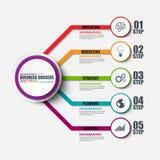 Шаблон дизайна вектора вариантов Infographic пронумерованный лентой Стоковая Фотография RF