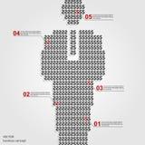 Шаблон дизайна знака доллара США Infographics Стоковая Фотография