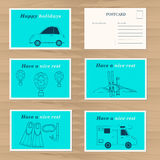 Шаблон дизайна карточек перемещения Стоковая Фотография