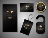 Шаблон дизайна карточек Vip Стоковое Фото