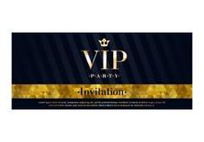 Шаблон дизайна карточки приглашения VIP наградной Стоковое Изображение