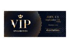 Шаблон дизайна карточки приглашения VIP наградной Стоковые Фото
