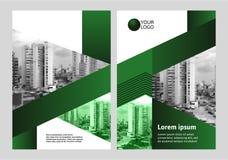 Шаблон дизайна крышки в зеленом цвете бесплатная иллюстрация