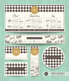 Шаблон дизайна меню сандвича кафа ресторана Стоковое фото RF
