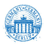 Шаблон дизайна логотипа вектора Германии Затрапезный штемпель Стоковое Фото