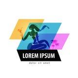 Шаблон дизайна логотипа вектора каникул перемещение или Стоковая Фотография