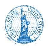 Шаблон дизайна логотипа вектора США Затрапезный штемпель или Стоковое фото RF