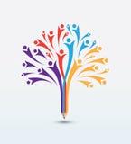 Шаблон дизайна логотипа концепции образования Стоковая Фотография