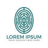 Шаблон дизайна логотипа отпечатка пальцев бесплатная иллюстрация