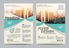 Шаблон дизайна плана брошюры Предпосылка представления крышки листовки рогульки годового отчета современная иллюстрация в A4 Стоковое Фото