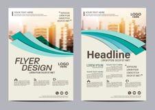 Шаблон дизайна плана брошюры Предпосылка представления крышки листовки рогульки годового отчета современная иллюстрация в A4 бесплатная иллюстрация