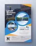 Шаблон дизайна рогульки брошюры Предусматрива листовки в размере A4 Стоковое Изображение RF