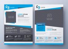 Шаблон дизайна рогульки брошюры Предусматрива листовки в размере A4 Стоковые Изображения
