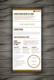 Шаблон дизайна рогульки брошюры Стоковые Фотографии RF