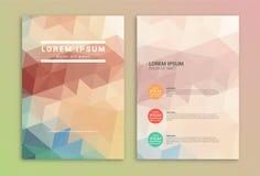 Шаблон дизайна рогульки брошюры Стоковое Изображение