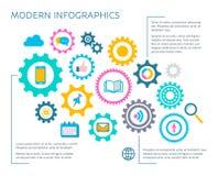 Шаблон дизайна современного вектора infographic Стоковое фото RF