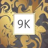 Шаблон дизайна спасибо вектора золота мраморный для друзей и следующих сети Спасибо карточка 9 следующих k Изображение для социал Стоковое фото RF