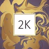 Шаблон дизайна спасибо вектора золота мраморный для друзей и следующих сети Спасибо карточка 2 следующих k Изображение для социал Стоковое Фото